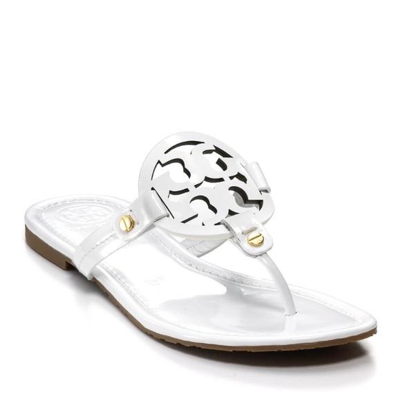 de9ef4cd71ba0 🎉White Tory Burch Miller sandal 9.5. M 5b96fd614ab6331d845e532c